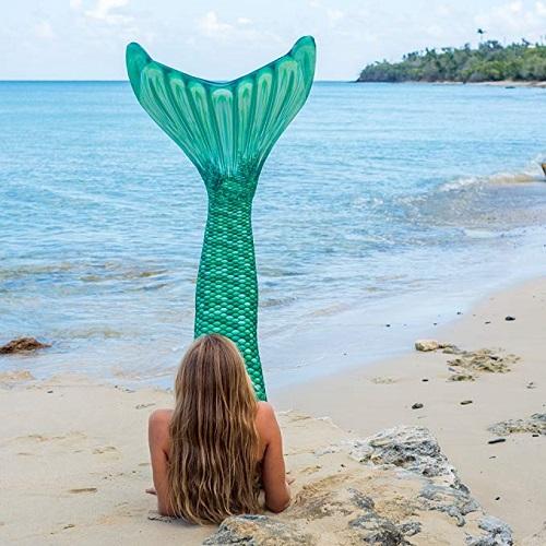 Meerjungfrauenflosse zum Schwimmen kaufen Damen Kinder