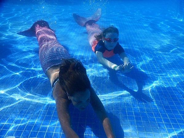 Meerjungfrauenflosse zum Schwimmen kaufen Kinder Damen
